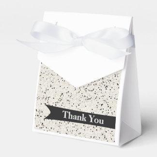 Personalisierter Bevorzugungs-Schwarzweiss-Kasten Geschenkkarton