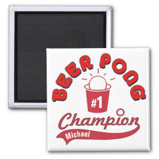 Personalisierter Bier Pong Meister-Preis Quadratischer Magnet