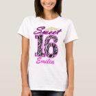 Personalisierter Bonbon16 Tiara und Zebradruck T-Shirt