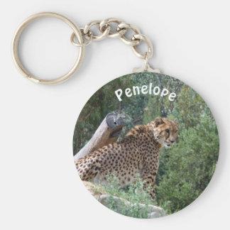 Personalisierter Cheetah-Schlüsselring Schlüsselanhänger