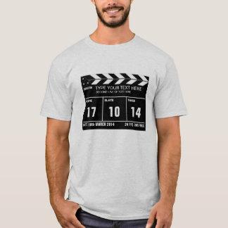 Personalisierter Clapperboard Klassiker T-Shirt