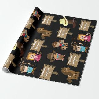 Personalisierter Cowboy-oder Cowgirl-Geburtstag Geschenkpapier