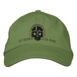 Personalisierter DJ-Schädel Ihre Bestickte Baseballkappe