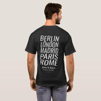 Personalisierter europäischer Ausflug-großer T-Shirt