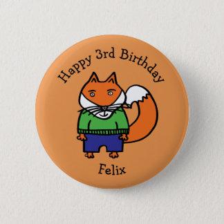 Personalisierter Felix alles Gute zum Geburtstag Runder Button 5,7 Cm