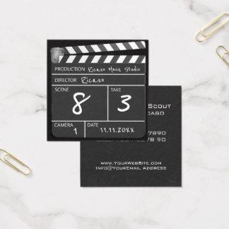 Personalisierter Film Clapperboard Quadratische Visitenkarte
