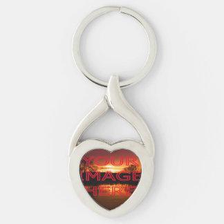 Personalisierter Foto-Herz-Schlüsselring Schlüsselanhänger