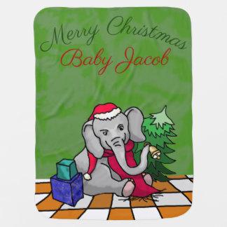 Personalisierter frohe Weihnacht-niedlicher Puckdecke