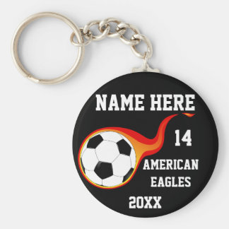 Personalisierter Fußball Keychains mit dem Namen Schlüsselanhänger