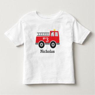 Personalisierter Geburtstags-Feuer-LKW Kleinkind T-shirt