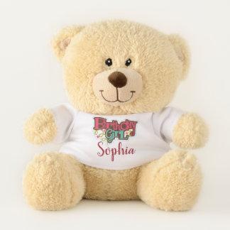 Personalisierter Geburtstags-Mädchenteddy-Bär Teddybär