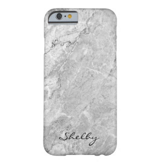 Personalisierter genannter Gray Granite iPhone Barely There iPhone 6 Hülle