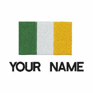 Personalisierter gestickter irischer Flaggen-T - S