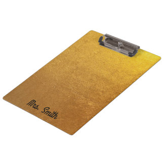 Personalisierter Goldfolien-Ton Klemmbrett