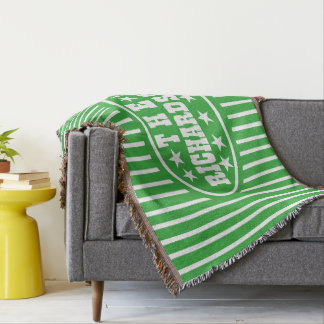Personalisierter grüner Vintager Karneval Decke