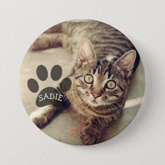 Personalisierter Haustier-Foto-Knopf mit Runder Button 7,6 Cm