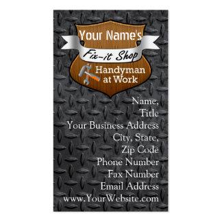 Personalisierter Heimwerker Verlegenheit-Es Visitenkartenvorlagen