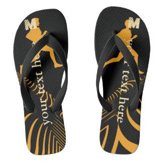 Personalisierter heller Sport-Rüttler drehen Flip Flops