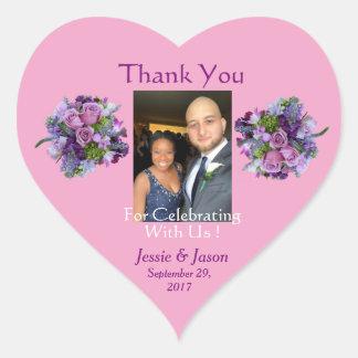 Personalisierter Herz-Hochzeits-Aufkleber Herz-Aufkleber