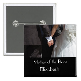 Personalisierter Hochzeits-Knopf Quadratischer Button 5,1 Cm