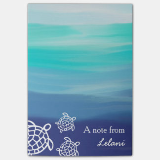 Personalisierter Honu Seeschildkröte-Ozean-Strand Post-it Klebezettel