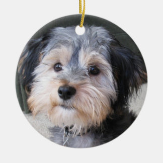 Personalisierter HundeFoto-Rahmen - DOPPELSEITIG Keramik Ornament
