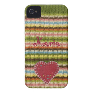 Personalisierter iPhone Fall mit gestricktem iPhone 4 Case-Mate Hülle