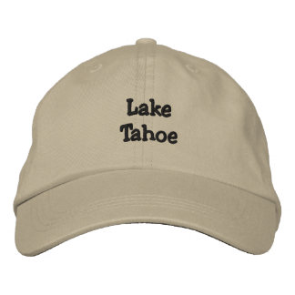 Personalisierter justierbarer Hut Lake Tahoe Bestickte Mütze