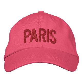 Personalisierter justierbarer Hut Paris Frankreich Bestickte Baseballcaps