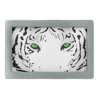 Personalisierter kundenspezifischer Schnee-Tiger Rechteckige Gürtelschnallen