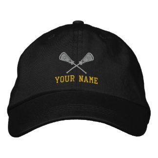 Personalisierter Lacrosse Ihre Name gestickte Bestickte Baseballkappe