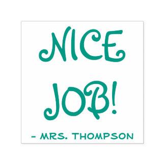 """Personalisierter Lehrer-Name + """"NETTER JOB! """" Permastempel"""