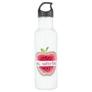Personalisierter Lehrer Wassermelone-Apples Edelstahlflasche