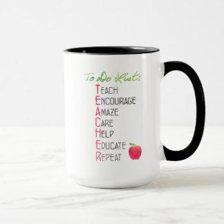 Personalisierter Lehrer, zum von ListeWatercolor Tasse