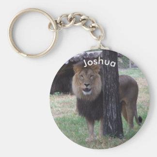Personalisierter Löwe-Schlüsselring Schlüsselanhänger