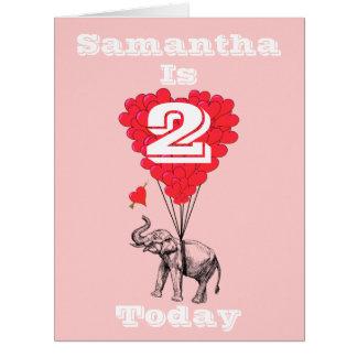 Personalisierter Mädchen Geburtstag Karte