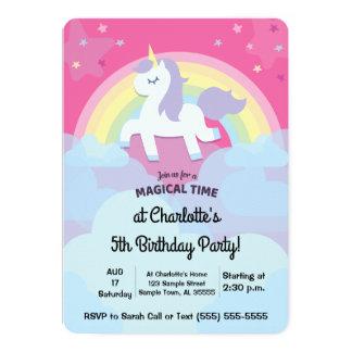 Personalisierter magischer Unicorn-Geburtstag mit 12,7 X 17,8 Cm Einladungskarte