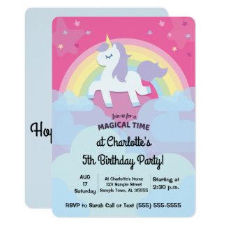Personalisierter magischer Unicorn-Geburtstag mit Karte