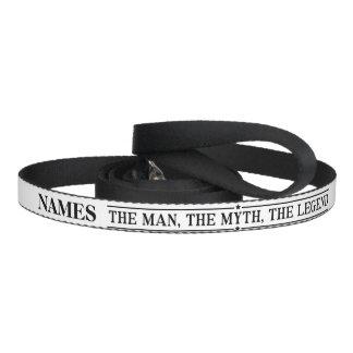 Personalisierter Name der Mann der Mythos die Haustierleine