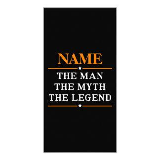 Personalisierter Name der Mann der Mythos die Karte