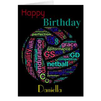 Personalisierter Netball-Spieler-Inspirational Karte