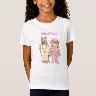 Personalisierter niedlicher blonder Cowgirl-und T-Shirt