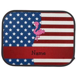 Personalisierter patriotischer Namensflamingo Autofußmatte