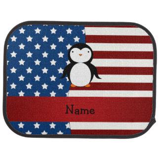 Personalisierter patriotischer Namenspenguin Autofußmatte