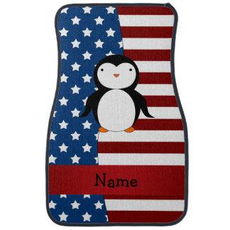 Personalisierter patriotischer Namenspenguin Automatte
