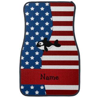 Personalisierter patriotischer Namenswal Autofußmatte