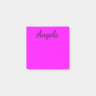 Personalisierter pinkfarbener Normallack Post-it Klebezettel