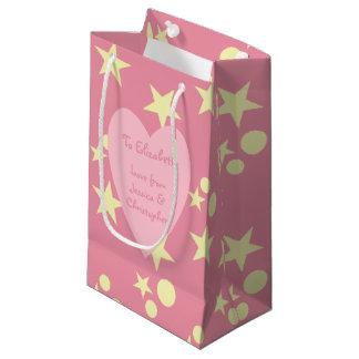 Personalisierter rosa Weihnachtssnowman Kleine Geschenktüte