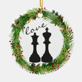 Personalisierter Schach-Schwarz-König, Keramik Ornament