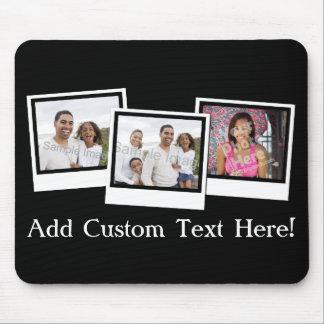 Personalisierter Schnappschuß 3-Foto gestaltet Mousepads